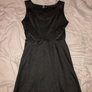Dresses & Skirts - Grey cut out mini dress